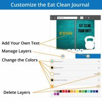 The eat clean train dirty cover customizer allows you to change the