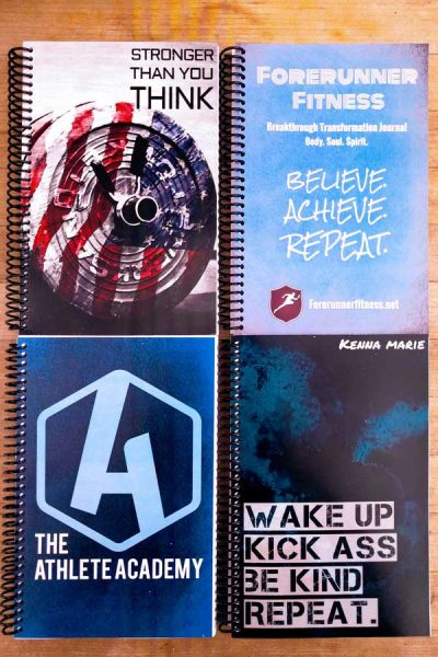 custom american barbell fitness journal to help you stay focused