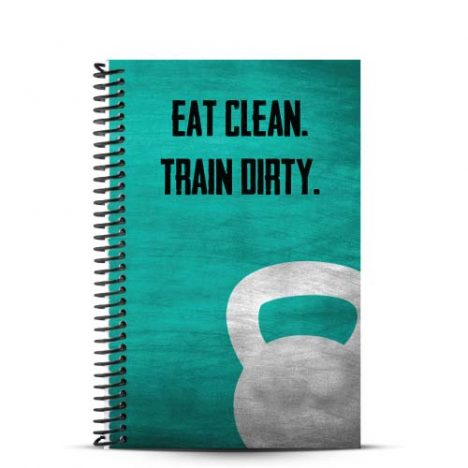 eat clean train dirty custom weightlifting journal