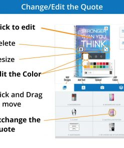 Edit the colors for the fitness journal