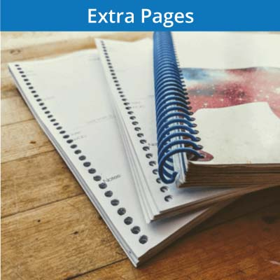 Add 25, 50 or 75 extra pages to your fitness journal