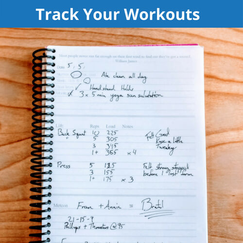 Tracking your workouts is probably the most important thing you can do to improve your knowledge of your fitness
