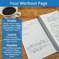 A fitness journal should be simple, flexible and useful