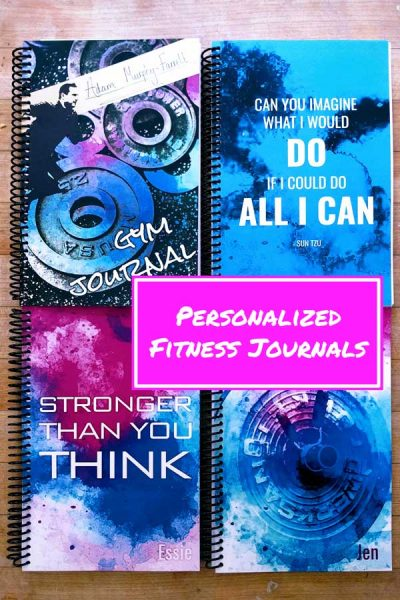personalized fitness journal to help you work harder and get more fit