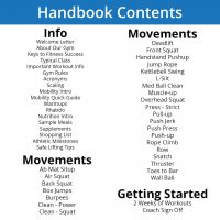 Athlete Handbook Table of Contents