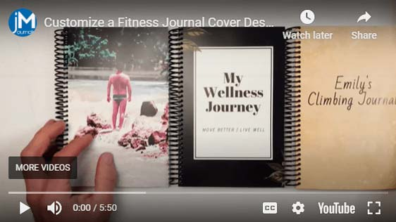 Video showing how to customize a journal cover