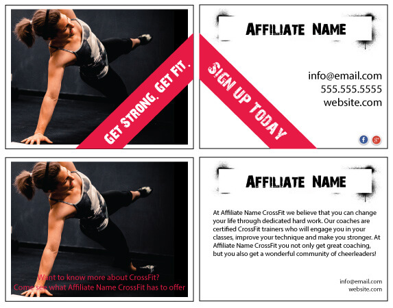Marketing Flyers for gyms and affiliates - Learn the concepts behind ...