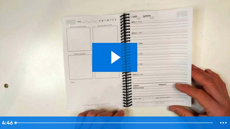 video intro of a wholesale journal customization for F45 Training