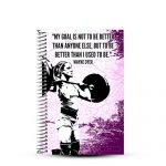 Girls who lift weightlifting journal with a personalized notebook cover