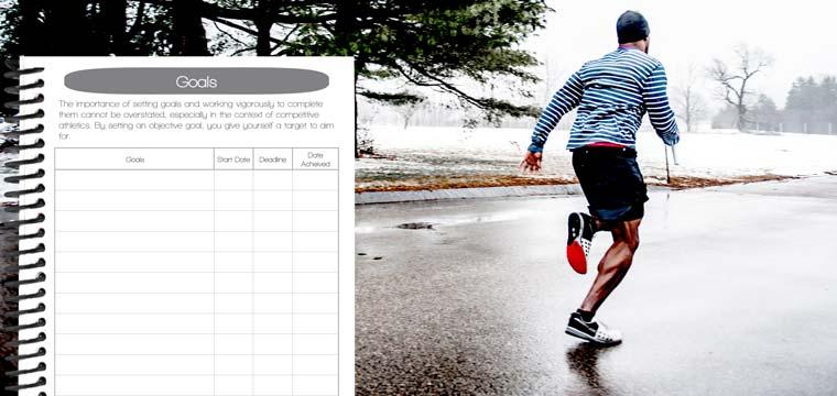 Track your running goals in a running journal