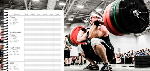 WOD journal to record weightlifting PRs