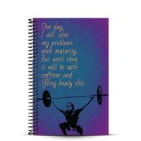 Caffeine and lifting journal front cover