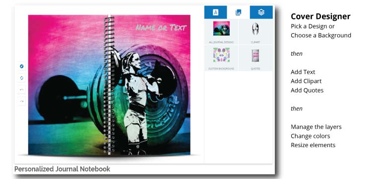 Design a custom journal to track your fitness progress
