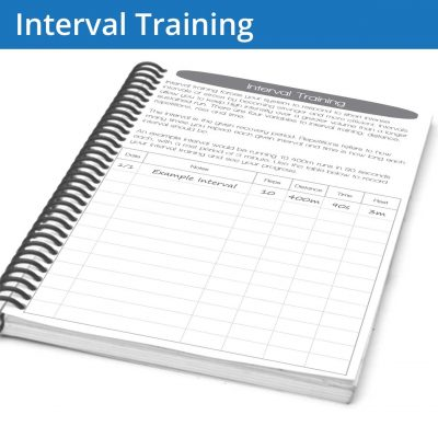 The interval training page helps you figure out what types of intervals you want to work on and also allows you to write out your previous work
