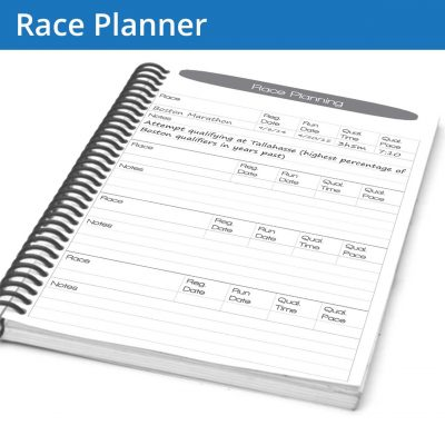 The Running Journal Race Planner page lets you write down and plan the races you're attempting this year, setting the stage for your training plan