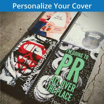 Personalize your weightlifting journal cover