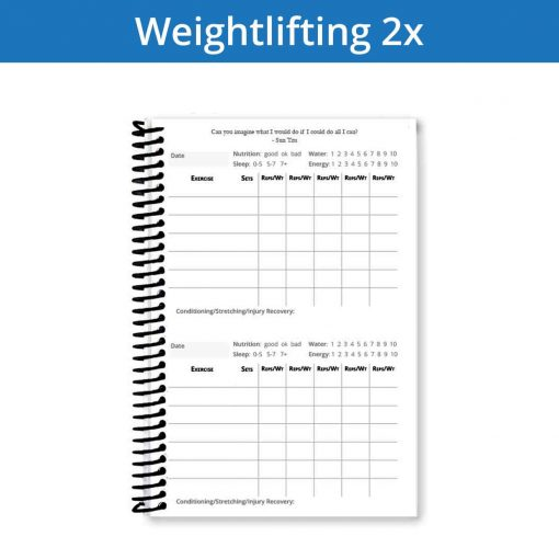 The perfect balance between workout entries and writing space for your weightlifting journal