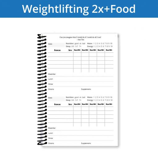 Record your nutrition in your weightlifting journal