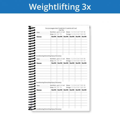 Make your weightlifting journal last longer with more workout entries