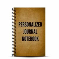 Design your cover with a personalized journal notebook and record all the ideas thoughts and inspiration your mind can handle
