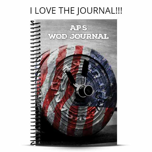 Andrew's custom american barbell journal with custom text on the cover