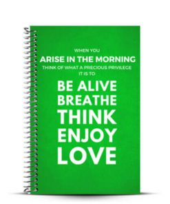 Arise in the Morning fitness inspiration fitness journal cover