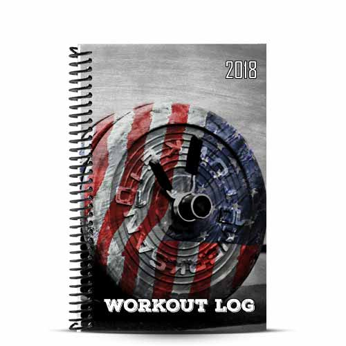 Brian's custom american barbell wod journal with custom workout pages and logo on the cover