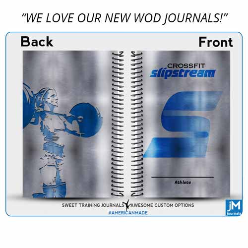 We created a few sets of these custom wholesale wod journals for CrossFit Slipstream and they use them well!