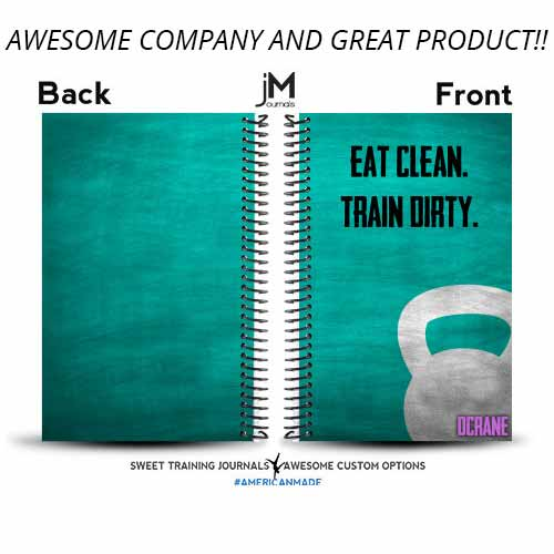 Danielle added her name to the Eat Clean Train Dirty to really make it hers