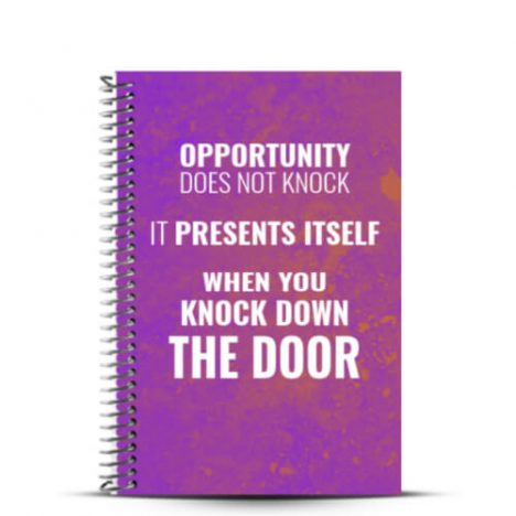 Opportunity does not knock build a journal cover