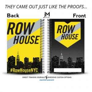 Row House NYC created a batch of custom wholesale journals for their rowing club