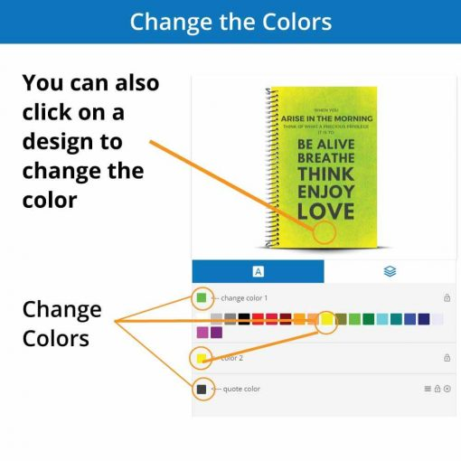 change the colors of an inspiration fitness journal