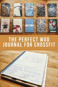 set of wod journals for crossfit athletes on wood table