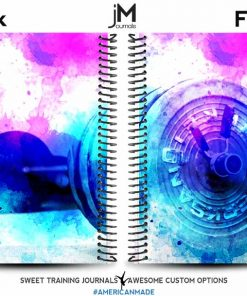 Watercolor barbell fitness journal to help you track your goals and write your workouts