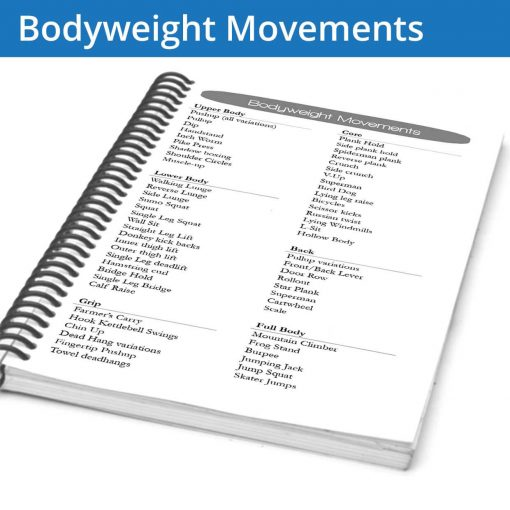 The Fitness Journal Bodyweight Movements page is a great library of movements to add variety to your workouts