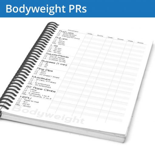 The Fitness Journal Bodyweight PR page gives you a ton of standard movements to keep track of