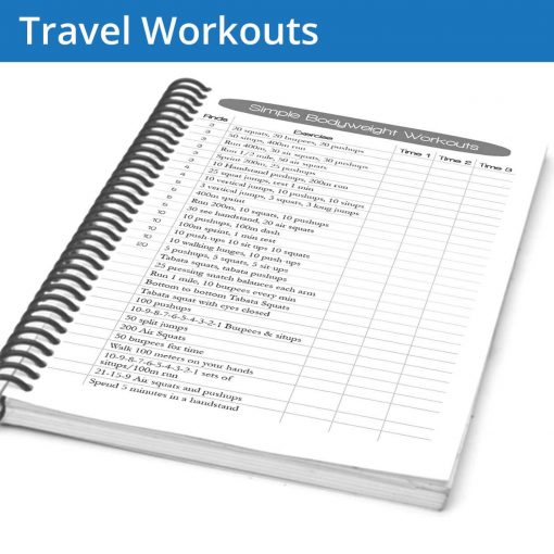 Fitness journal travel workouts give you ideas for when you're on the road or needing some bodyweight exercises