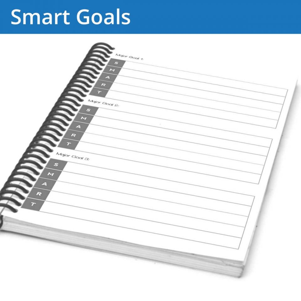 The Fitness Journal SMART Goals page helps you design and implement your goals with time-tested methods
