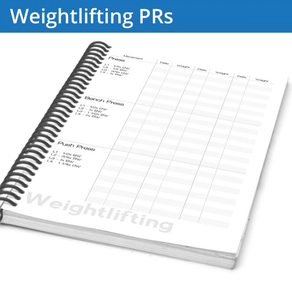 Know your progress and keep track of your fitness journal personal records in one place
