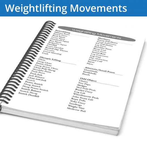 The Fitness Journal Weightlifting Movements page gives you ideas for alternative movements to go along with your normal sets