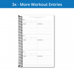 The Fitness Journal 3x workout page gives the most entries but has less writing space