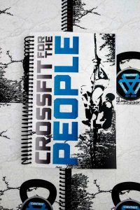 CrossFit For the People's custom wod journals front and back