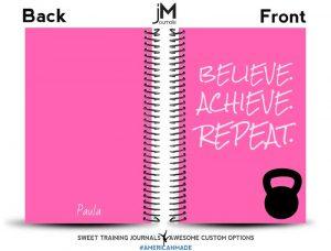 Paula's custom fitness journal proof