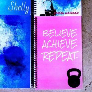 Paula's pink custom fitness journal
