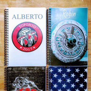 Custom Build a Journals created to help Robin and Alberto track their workouts
