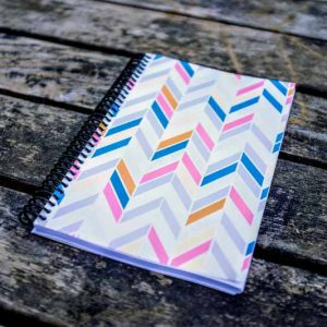 Colored Chevron training log for athlete training