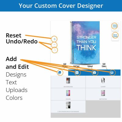 Meet the personalized notebook cover designer