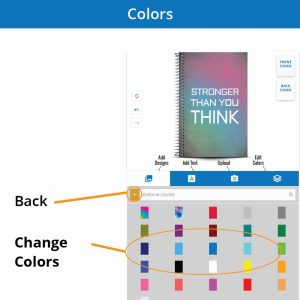 Choose the color of your personalized Notebook0