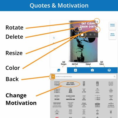 Choose your motivation with your personalized notebook