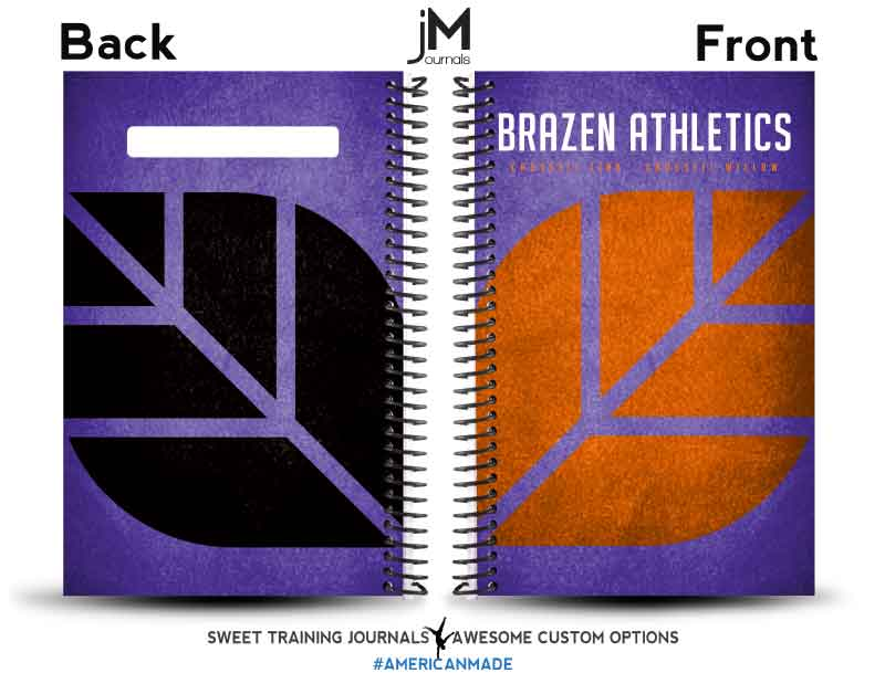 Brazen Athletics get their journals with purple and gold colors and they turn out great